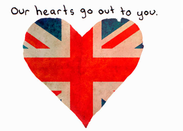 Our Hearts Go Out To The People Of London