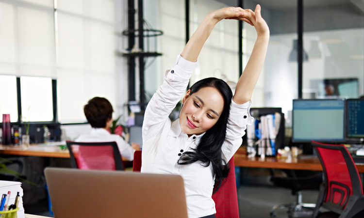 20 Exercises To Do At Your Desk